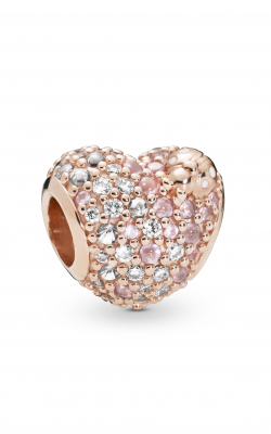 Pandora Rose™ Gleaming Ladybird Heart Charm Pink Enamel Crystals & Clear CZ 787894NPOMX product image