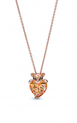 Sparkling Lion Princess Heart Necklace Pandora Rose™ 388068CZM-60 product image