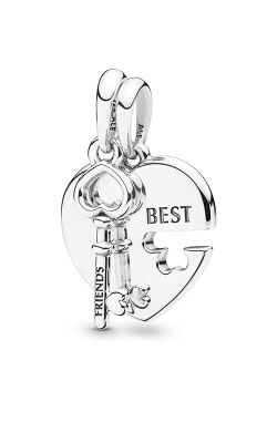 Pandora Best Friends Heart & Key Necklace Pendant 398130 product image