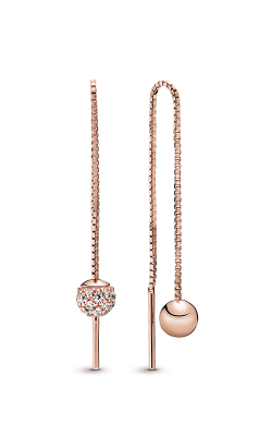 Pandora Rose™ Polished & Pavé Bead Dangle Earrings 288325CZ product image