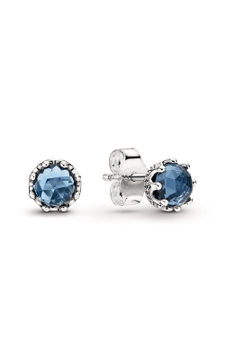 Pandora Blue Sparkling Crown Stud Earrings 298311NMB product image