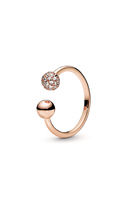 Pandora Rose™ Polished & Pavé Bead Open Ring 188316CZ-54 product image