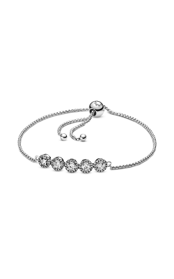 Pandora Round Sparkle Slider Bracelet, Clear CZ 598510C01-1 product image