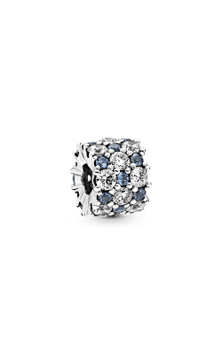 Pandora Blue & Clear Sparkle, Blue Crystal & Clear CZ Charm 798487C02 product image