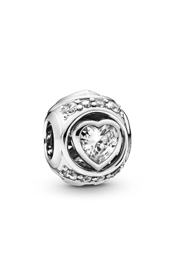 Pandora Elevated Heart, Clear CZ Charm 798464C01 product image