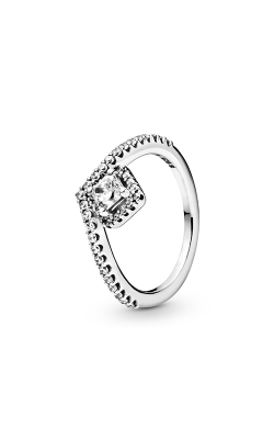 Pandora Square Sparkle Wishbone, Clear CZ Fashion Ring 198420C01-48 product image