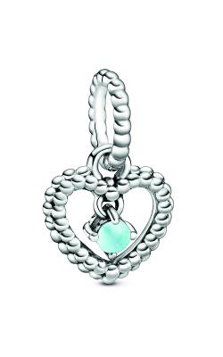Pandora Sky Blue Beaded Heart Dangle Charm 798854C07 product image