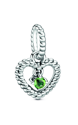 Pandora Spring Green Beaded Heart Dangle Charm 798854C10 product image
