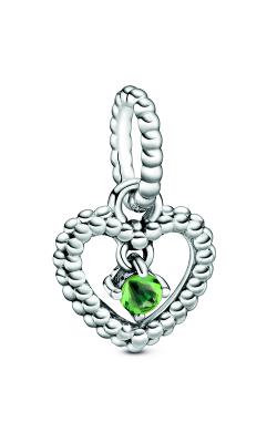 Pandora Spring Green Beaded Heart Dangle Charm 798854C10 product image
