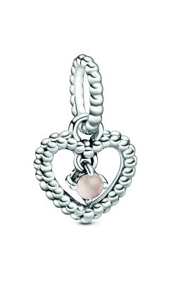 Pandora Misty Rose Beaded Heart Dangle Charm 798854C06 product image