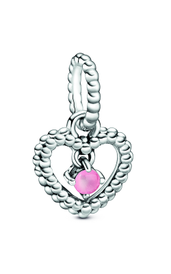Pandora Petal Pink Beaded Heart Dangle Charm 798854C09 product image