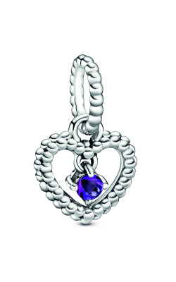 Pandora Purple Beaded Heart Dangle Charm 798854C03 product image