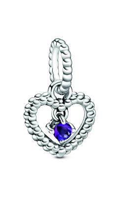 Pandora Purple Beaded Heart Dangle Charm 798854C03 product image