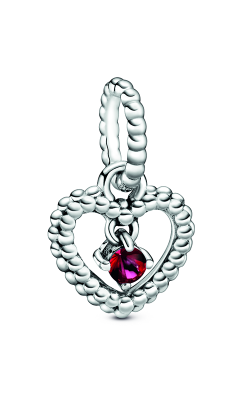 Pandora Blazing Red Beaded Heart Dangle Charm 798854C02 product image