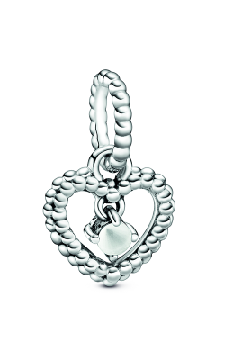 Pandora Milky White Beaded Heart Dangle Charm 798854C04 product image