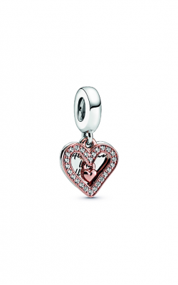 Pandora Rose™ Sparkling Freehand Heart Dangle Charm 788693C01 product image