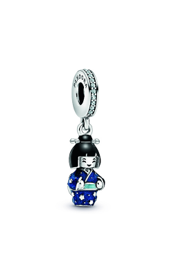 Pandora Japanese Doll In Blue Kimono Dangle Charm 798595C01 product image
