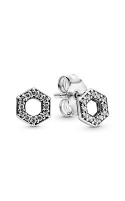 Pandora Sparkling Honeycomb Hexagon Stud Earrings 298800C01 product image