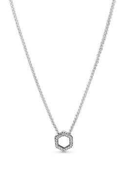 Pandora Sparkling Honeycomb Hexagon Collier Necklace 398787C01-50 product image