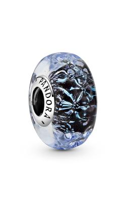 Pandora Wavy Dark Blue Murano Glass Ocean Charm 798938C00 product image