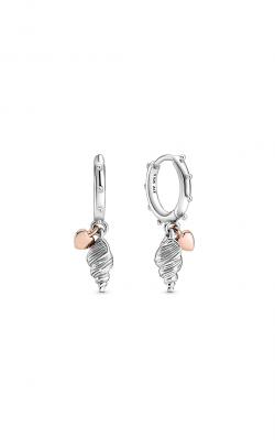 Pandora Rose™ Heart & Conch Shell Hoop Earrings 289000C00 product image