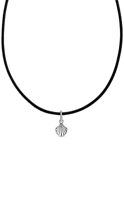 Pandora Black Leather Seashell Choker Necklace 398966C01 product image