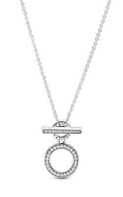 Pandora Double Hoop T-bar Necklace 399039C01-45 product image