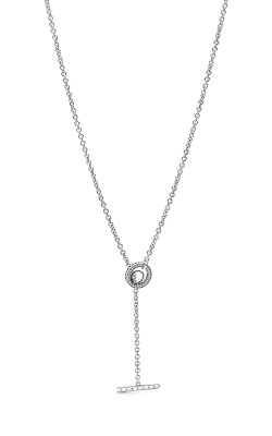 Pandora Pave Circle Logo T-bar Heart Necklace 399050C01-80 product image