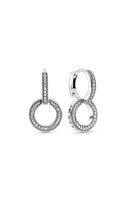 Pandora Sparkling Double Hoop Earrings 299052C01 product image