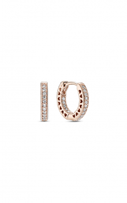 Pandora Rose Pavé Heart Hoop Earrings 286317C01 product image