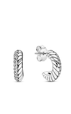 Pandora Pavé Snake Chain Pattern Hoop Earrings 299091C01 product image