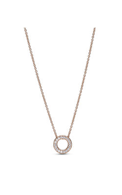 Pandora Rose Pandora Logo Pavé Circle Collier Necklace 387436C01-45 product image