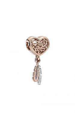 Pandora Rose Openwork Heart & Two Feathers Dreamcatcher Charm 789068C00 product image