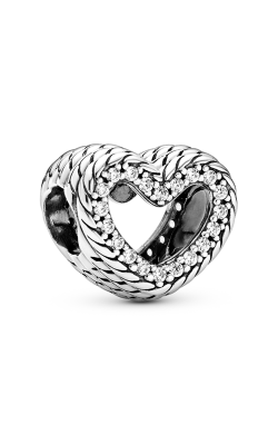 Pandora Snake Chain Pattern Open Heart Charm 799100C01 product image