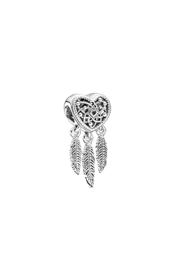 Pandora Openwork Heart & Three Feathers Dreamcatcher Charm 799107C00 product image