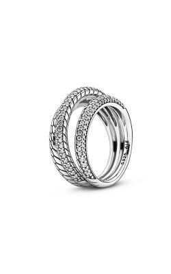 Pandora Triple Band Pavé Snake Chain Pattern Fashion Ring 199083C01-56 product image