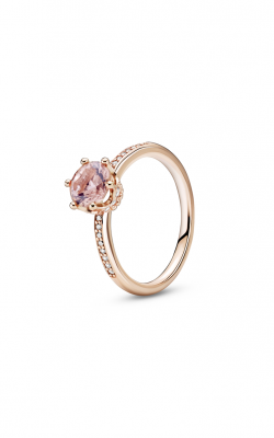 Pandora Rose Pink Sparkling Crown Solitaire Fashion Ring 188289C01-50 product image