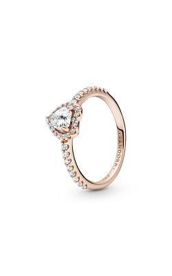 Pandora Sparkling Elevated Heart, Clear CZ Ring 188421C02-48 product image