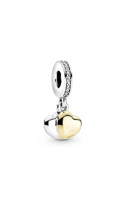 Pandora Double Heart, with 14K Gold & Clear CZ Dangle Charm 799162C01 product image