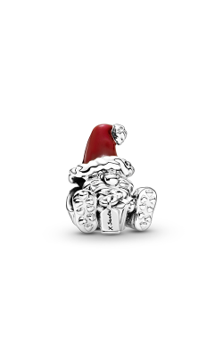 Pandora Seated Santa Claus & Present, Red Enamel Charm 799213C01 product image