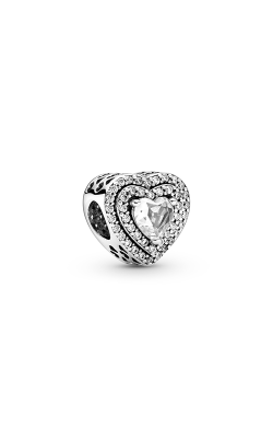 Pandora Sparkling Levelled Hearts, Clear CZ Charm 799218C01 product image