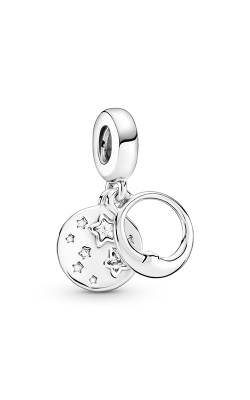 Pandora Sleeping Moon & Stars, Clear CZ Dangle Charm  799242C01 product image