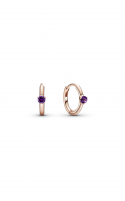 Pandora Colours Purple Solitaire Huggie Hoop Earrings 289304C01 product image