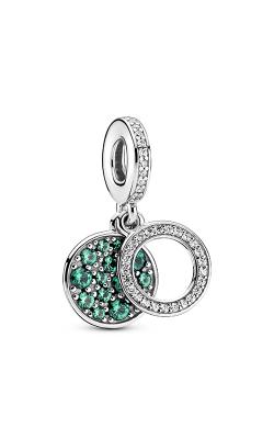 Pandora Colours Sparkling Green Disc Double Dangle Charm 799186C02 product image