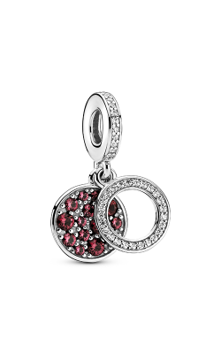 Pandora Colours Sparkling Red Disc Double Dangle Charm 799186C03 product image