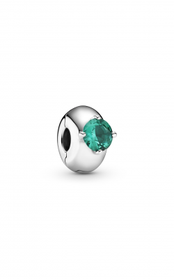 Pandora Colours Green Round Solitaire Clip Charm 799204C03 product image