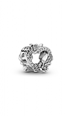 Pandora People Open Heart & Rose Flowers Charm 799281C01 product image