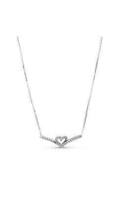 Pandora Wish Sparkling Wishbone Heart Collier Necklace 399273C01-45 product image