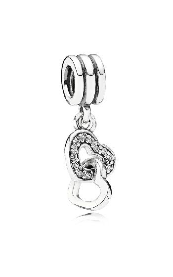 af1f03b52 PANDORA Interlocking Love, Clear CZ Dangle Charrm 791242CZ product image