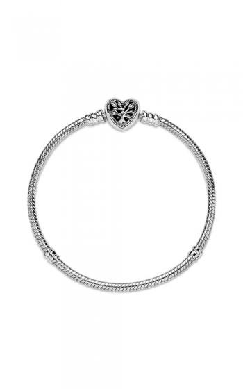 Pandora Moments Family Tree Heart Clasp Snake Chain Bracelet ...